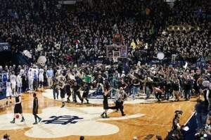 Notre Dame knocks off #8 Kentucky, who made the greatest fall out of the rankings in the history of college basketball. Courtesy of http://www.indystar.com/viewart/20121129/SPORTS/121129040/Notre-Dame-beats-eighth-ranked-Kentucky-64-50.