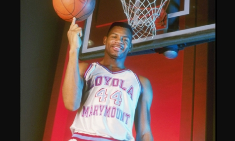 Hank Gathers was on top of the world at Loyola Marymount University until his tragic death during a game in 1990. (Image courtesy of http://www.fanpop.com/clubs/celebrities-who-died-young/images/30072059/title/eric-hank-gathers-february-11-1967-march-4-1990-photo)