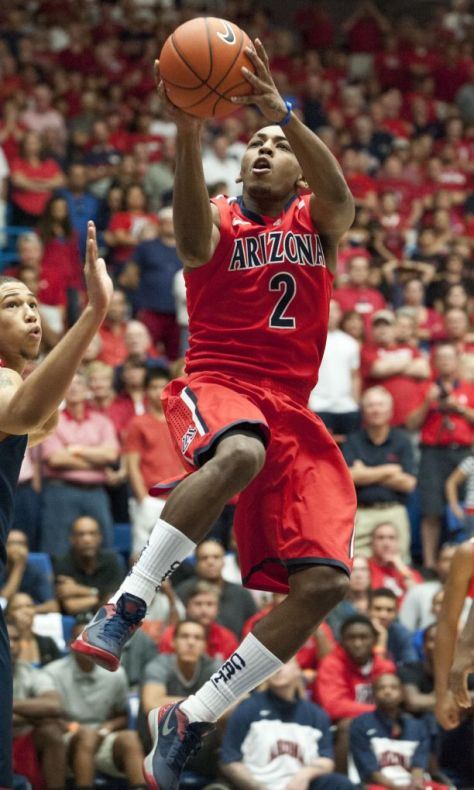 University of Arizona starting point guard Mark Lyons. (Image courtesy of http://uanews.org/story/cats-ranked-no-12-preseason-ap-poll)