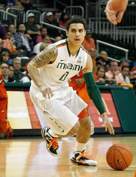 University of Miami starting point guard Shane Larkin. (Image courtesy of http://www.zimbio.com/pictures/rmGH0_mrF2p/Clemson+v+Miami/1YxX9TBqKcT/Shane+Larkin)