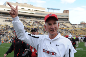 Tommy Tuberville was in a good situation at Texas Tech and inexplicably left for the University of Cincinnati. (Image courtesy of http://blog.newsok.com/ou/2012/10/02/tommy-tuberville-and-his-players-preview-the-ou-tech-game/)