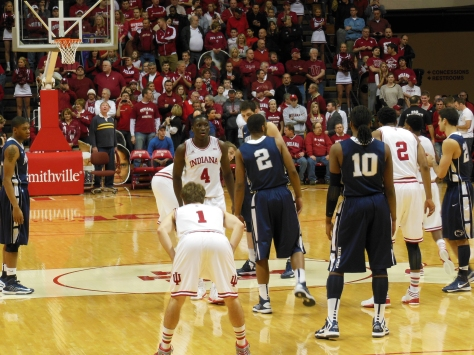 The No. 7 Indiana Hoosiers hosted the Penn State Nittany Lions at Assembly Hall on Wednesday, January 23, 2013.