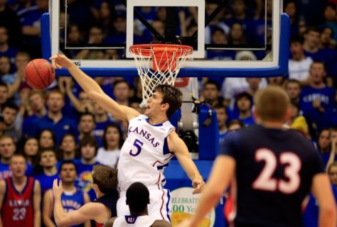 The Kansas Jayhawks have won 33 straight games at Allen Fieldhouse and are one of the hottest teams in college basketball. (Image courtesy of http://bleacherreport.com/articles/1501647-kansas-basketball-jayhawks-lack-of-offense-isnt-a-big-concern)