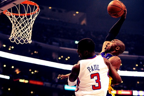 Kobe Bryant showed that he still has youth left despite being 34 years old. (Image courtesy of http://elitedaily.com/elite/2013/kobe-bryant-throws-nasty-dunk-chris-paul-video/?utm_source=rss&utm_medium=rss&utm_campaign=kobe-bryant-throws-nasty-dunk-chris-paul-video)