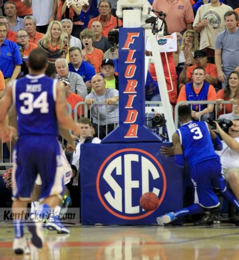 Kentucky freshman center Nerlens Noel tore his ACL and will miss the remainder of the season. (Image courtesy of http://www.thebiglead.com/index.php/2013/02/13/nerlens-noel-photo-knee-injury-kentucky-florida/)
