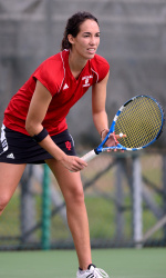 IU senior Leslie Hureau has played in the No. 1 singles position for the Hoosiers since her freshman year and she has compiled nearly 200 wins at IU. (Image courtesy of iuhoosiers.com)