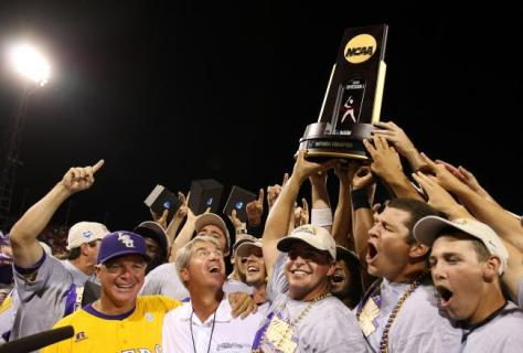 LSU won the College World Series in 2009 and the Tigers have won six titles since 1991.  (Elsa/Getty Images)
